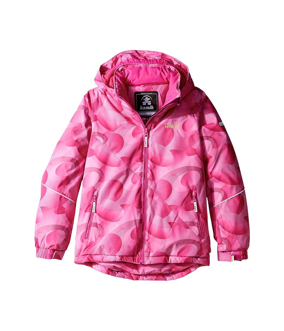 Kamik Kids - Aria Spiral Blitz Jacket (Little Kids/Big Kids) (Violet Pink) Girl's Coat