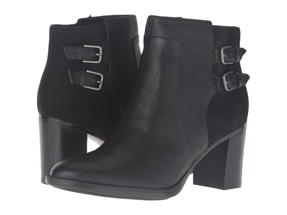 Naturalizer - Falza (Black Leather/Nubuck) Women's Boots