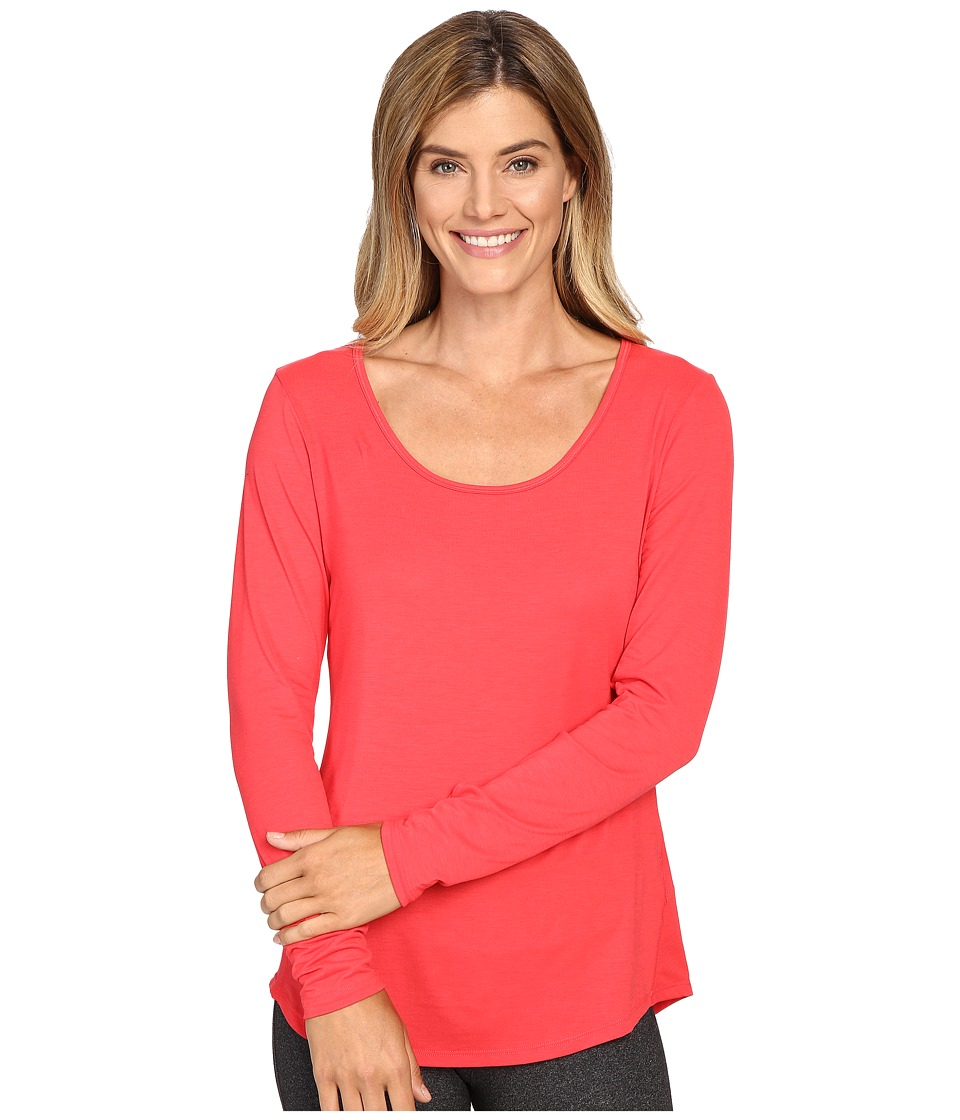 Lucy - L/S Workout Tee (Passion Pink) Women's Workout