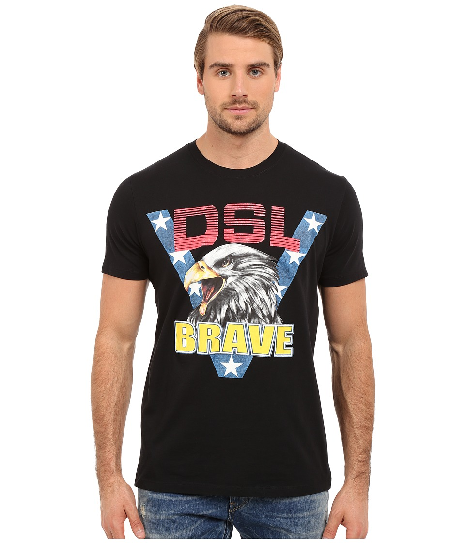 Diesel - T-Joe-AB T-Shirt (Black) Men's T Shirt