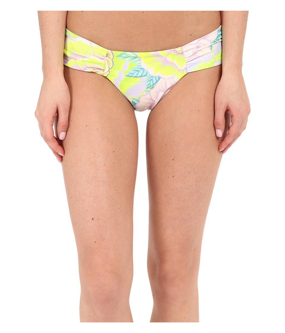 Mara Hoffman Side Ruched Bottom Flora White Womens Swimwear