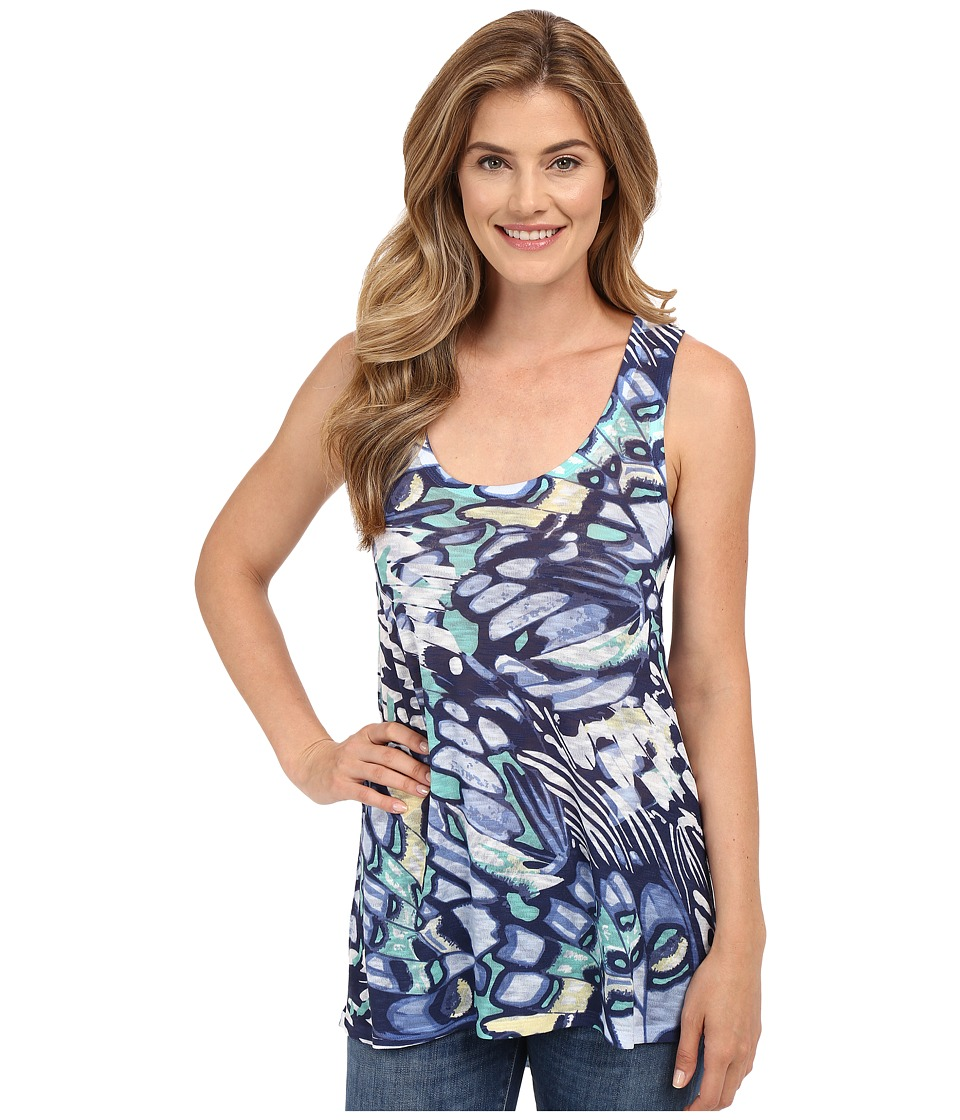 Nally & Millie - Butterfly Print High-Low Tank Top (Multi) Women's Sleeveless