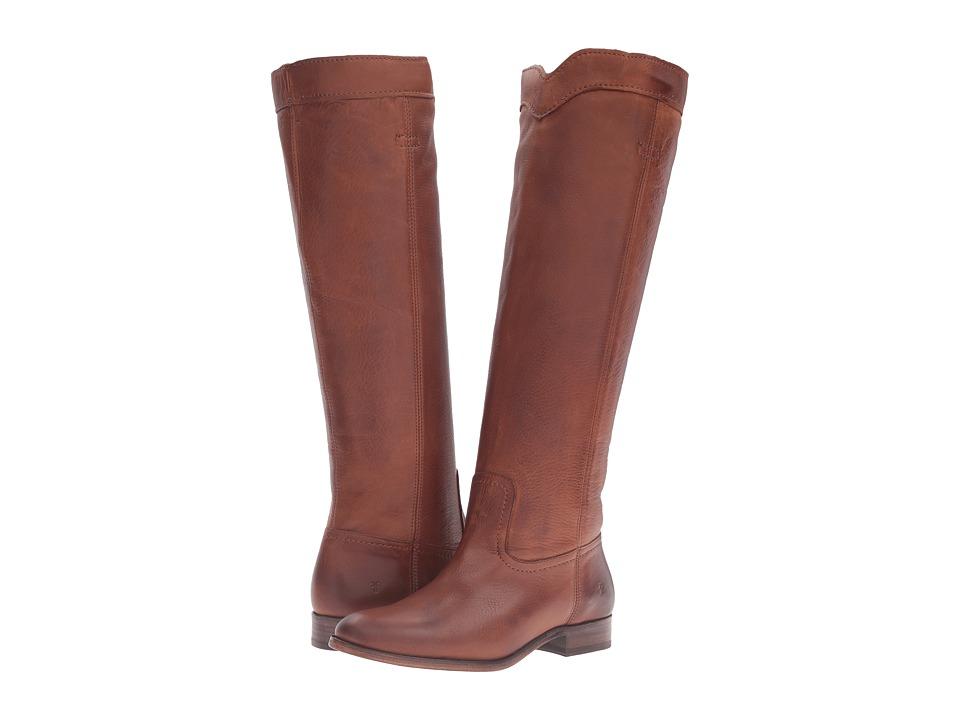 Frye - Cara Roper Tall (Cognac Soft Pebbled Full Grain) Women's Pull-on Boots