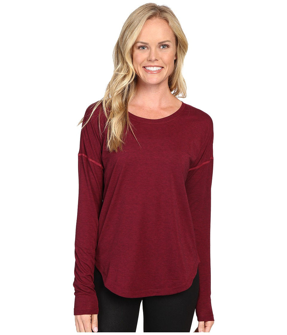 Lucy - Final Rep Long Sleeve Top (Beet Red/Lucy Black Heather) Women's Long Sleeve Pullover