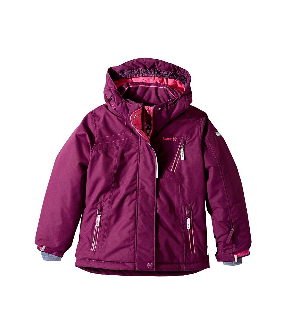 Kamik Kids - Avalon Solid Jacket (Infant/Toddler/Little Kids) (Dark Purple) Girl's Coat