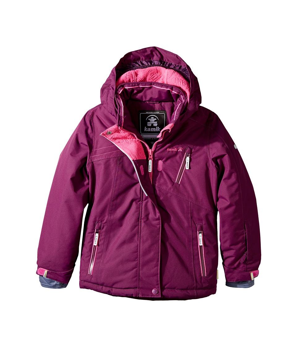 Kamik Kids - Avalon Solid Jacket (Little Kids/Big Kids) (Dark Purple) Girl's Coat