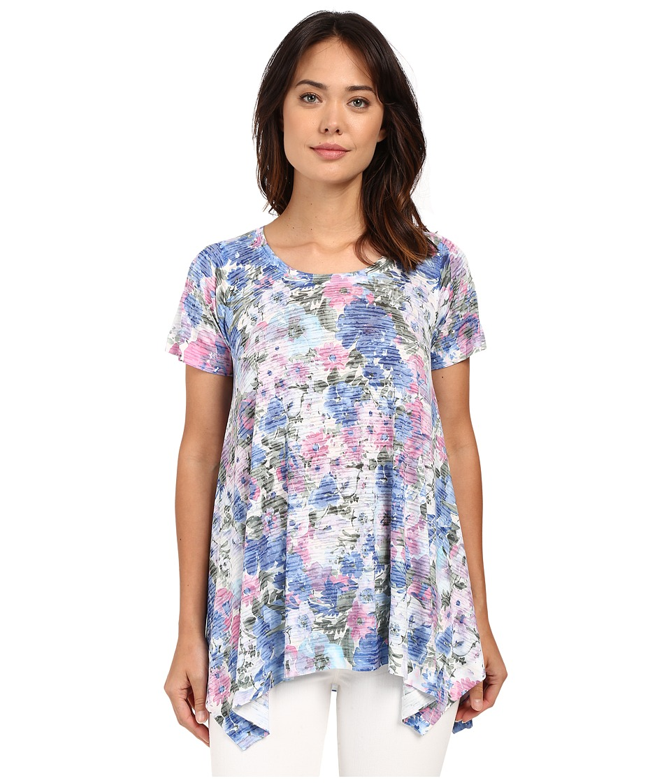 Nally & Millie Floral Sharkbite Tunic (Multi) Women's Blouse