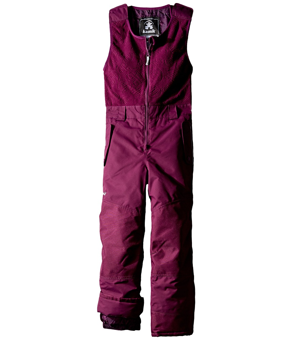 Kamik Kids - Winter Solid Pants (Toddler/Little Kids) (Dark Purple) Girl's Snow Bibs One Piece