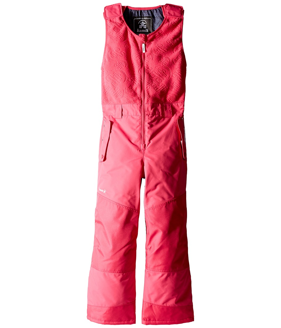 Kamik Kids - Winter Solid Pants (Toddler/Little Kids) (Cerise) Girl's Snow Bibs One Piece