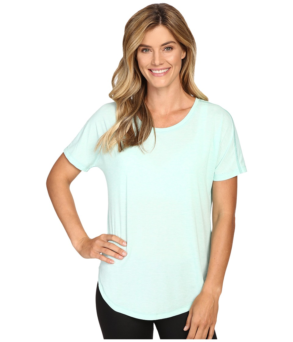 Lucy - Final Rep S/S (Morning Mist Heather) Women's Short Sleeve Pullover
