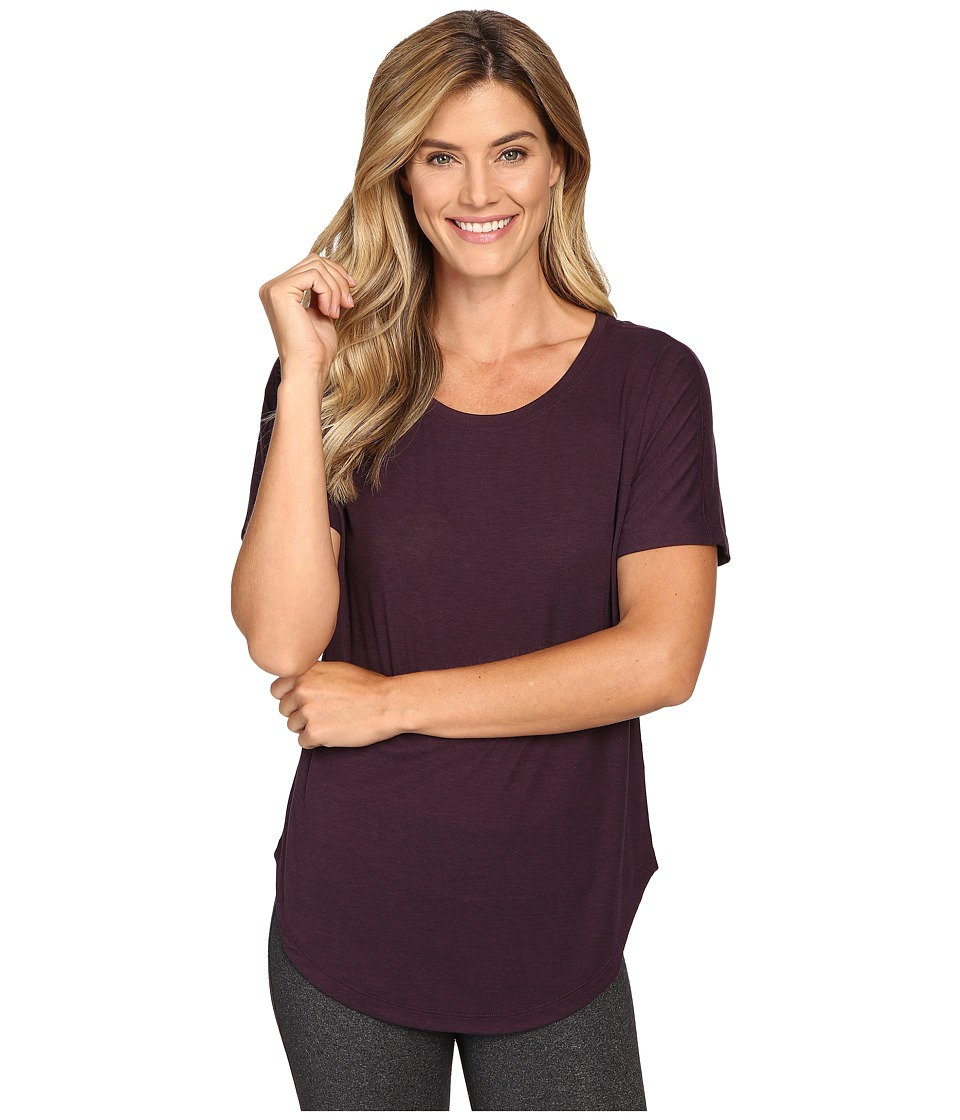 Lucy - Final Rep S/S (Blackberry/Lucy Black Heather) Women's Short Sleeve Pullover