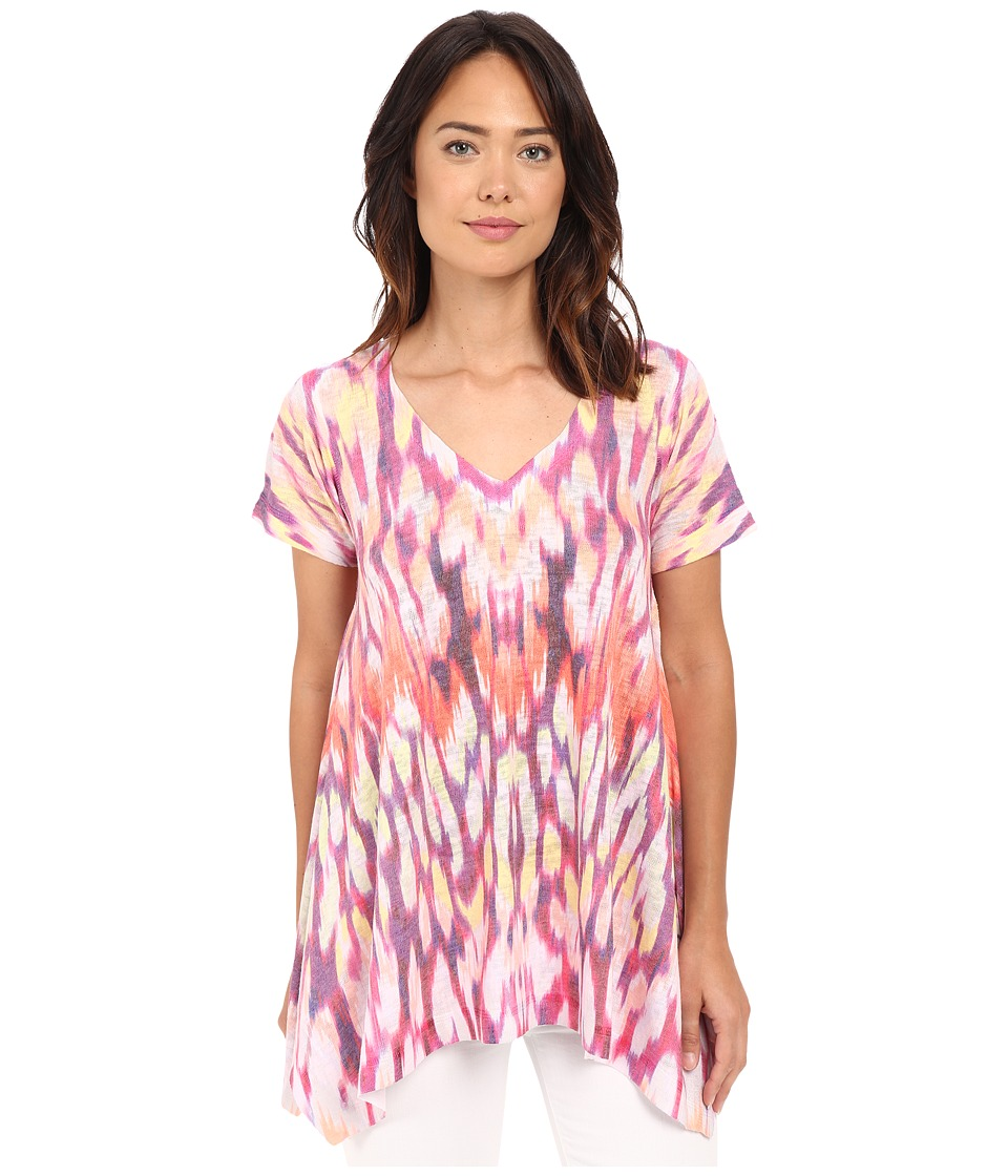 Nally & Millie - Short Sleeve Sharkbite Animal Tunic (Multi) Women's Blouse
