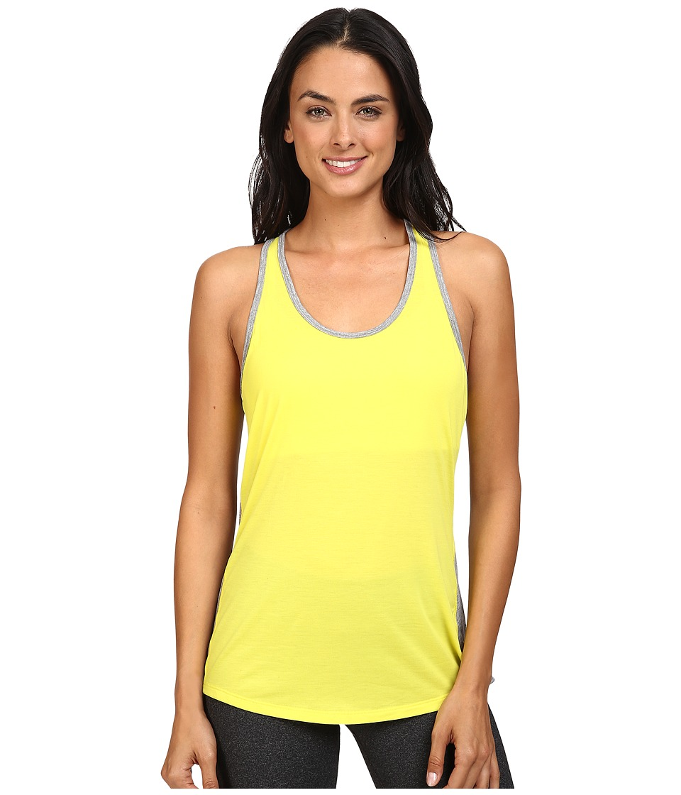Lucy - Workout Racerback (Lime Zest/Asphalt Heather) Women's Clothing