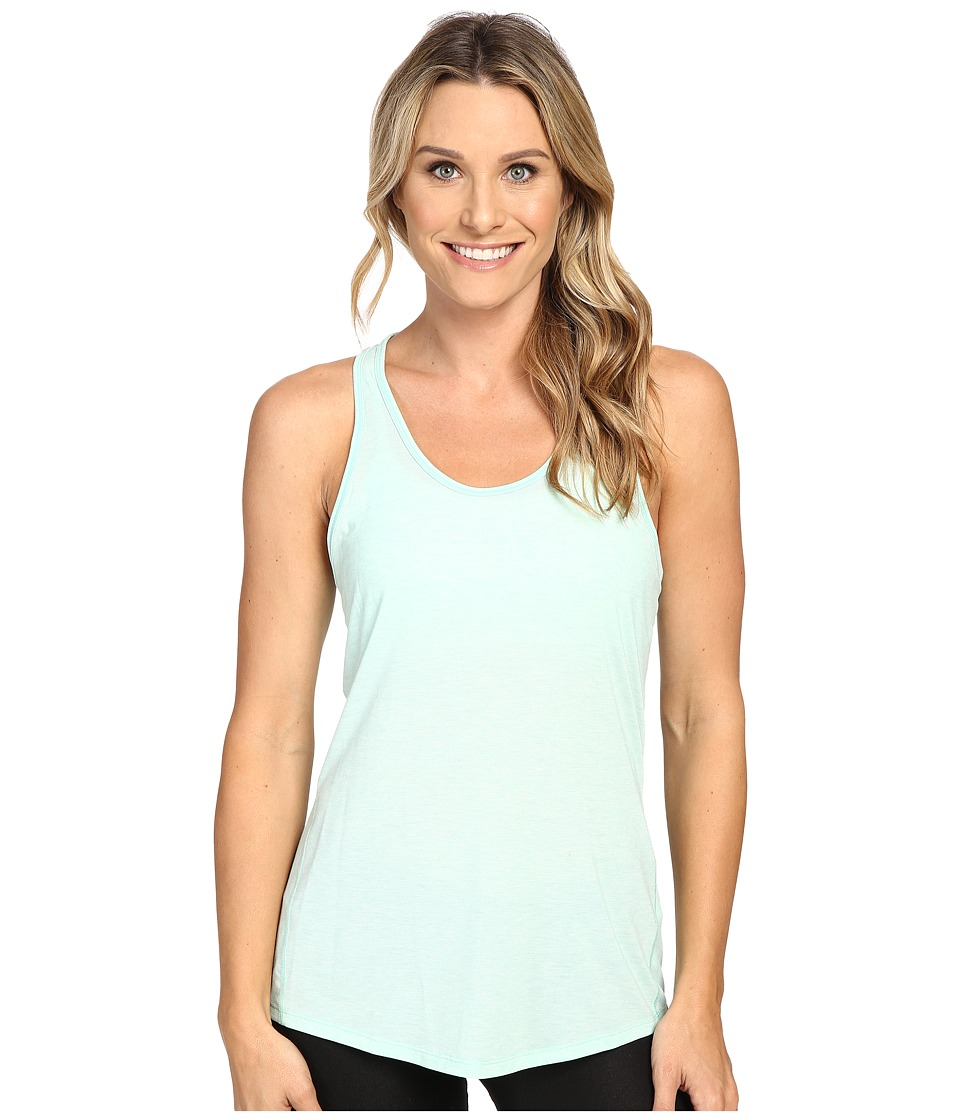 Lucy - Workout Racerback (Morning Mist Heather) Women's Clothing