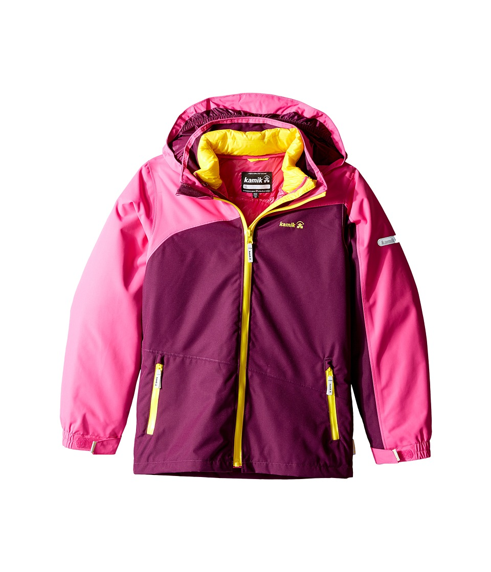 Kamik Kids - Dana 3-in-1 Down Jacket (Little Kids/Big Kids) (Dark Purple) Girl's Coat