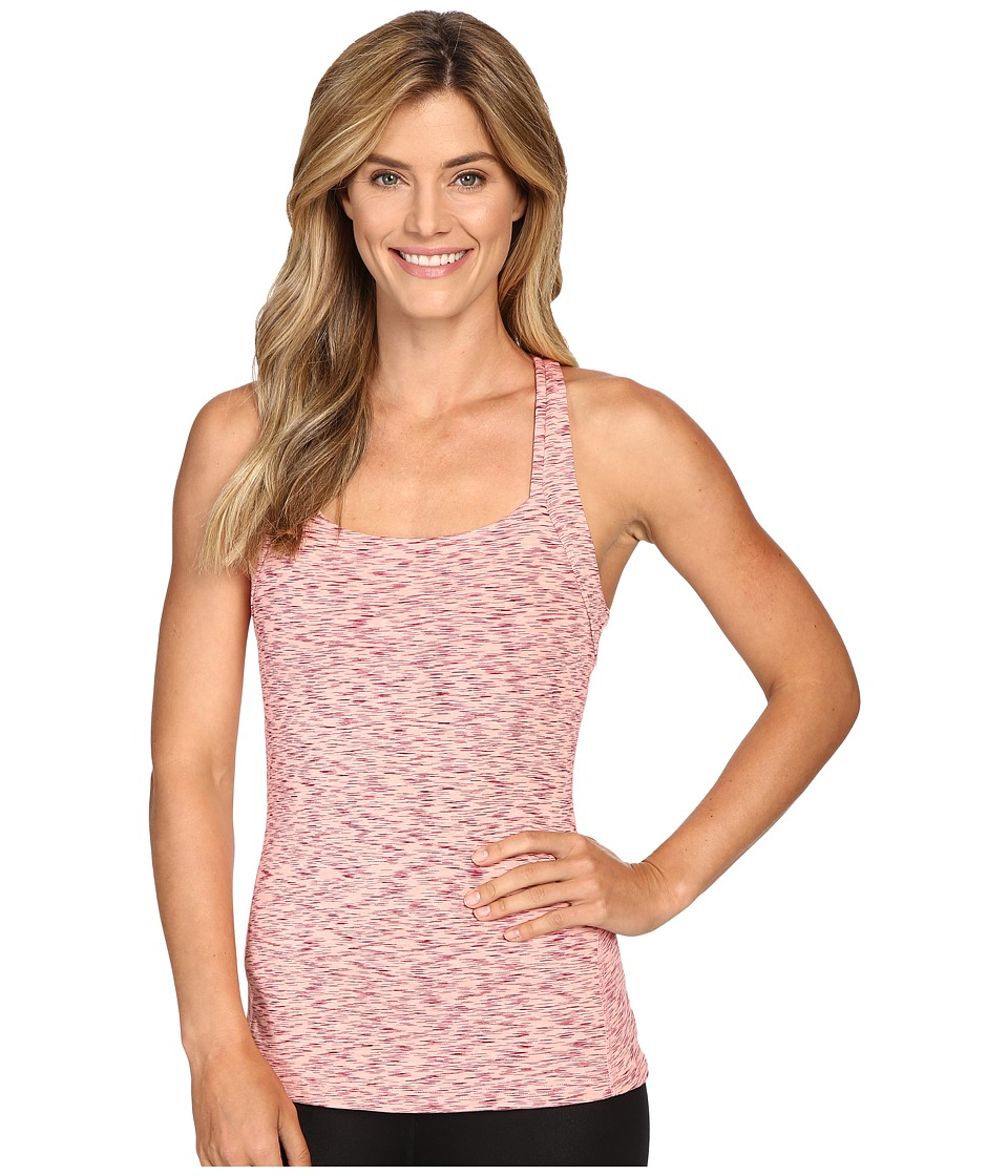 Lucy - Fitness Fix Tank Top (Rose Gold Spacedye) Women's Sleeveless