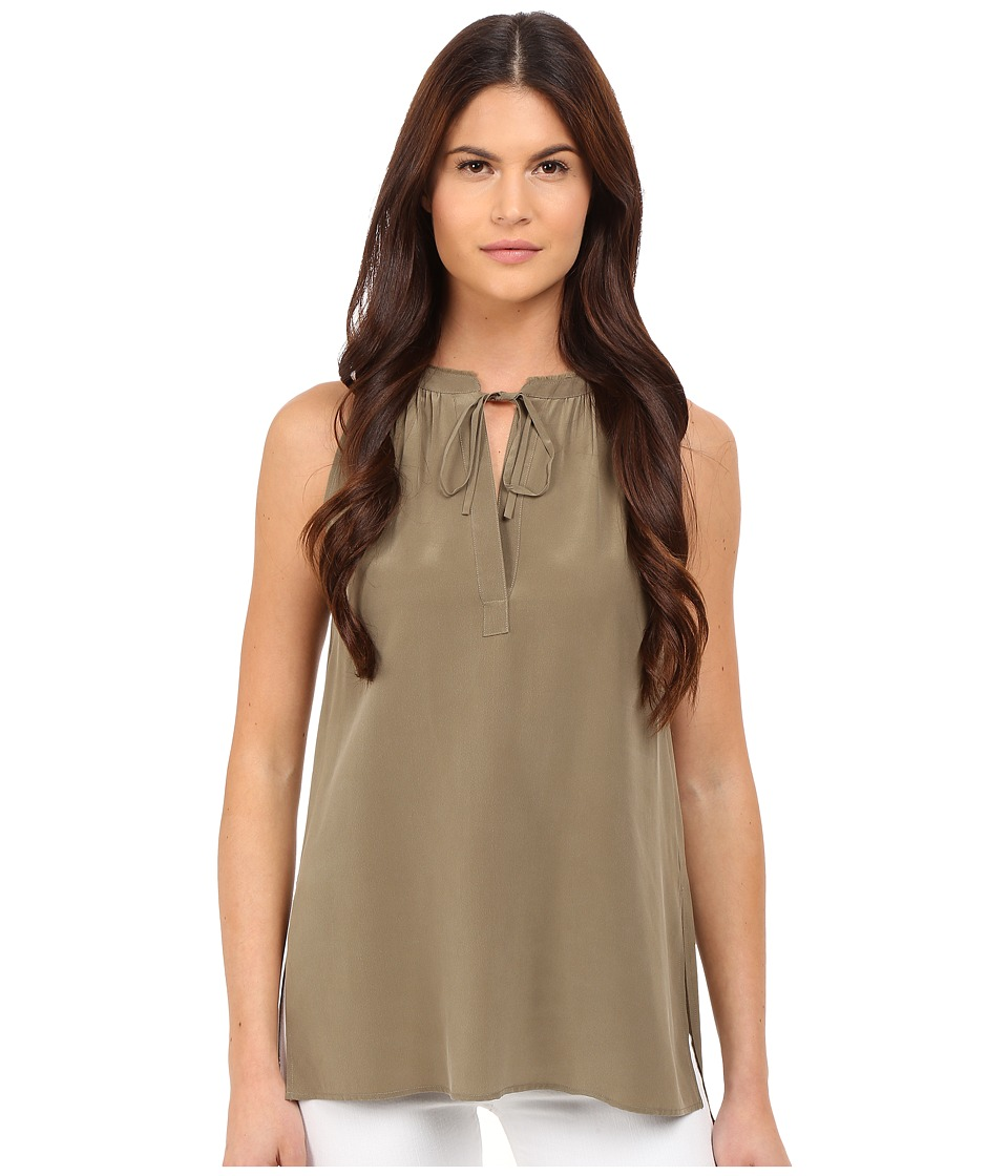 Theory - Livilla Summer Silk (Moss) Women's Sleeveless