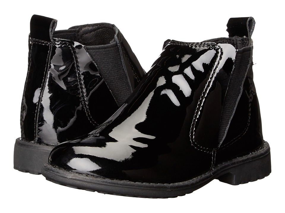 Old Soles - Shanti Boot (Toddler/Little Kid) (Black Patent) Girls Shoes