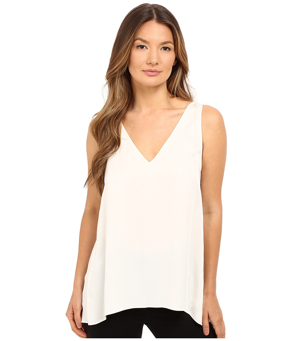 Theory - Narcyz Modern Georgette Blouse (Ivory) Women's Blouse