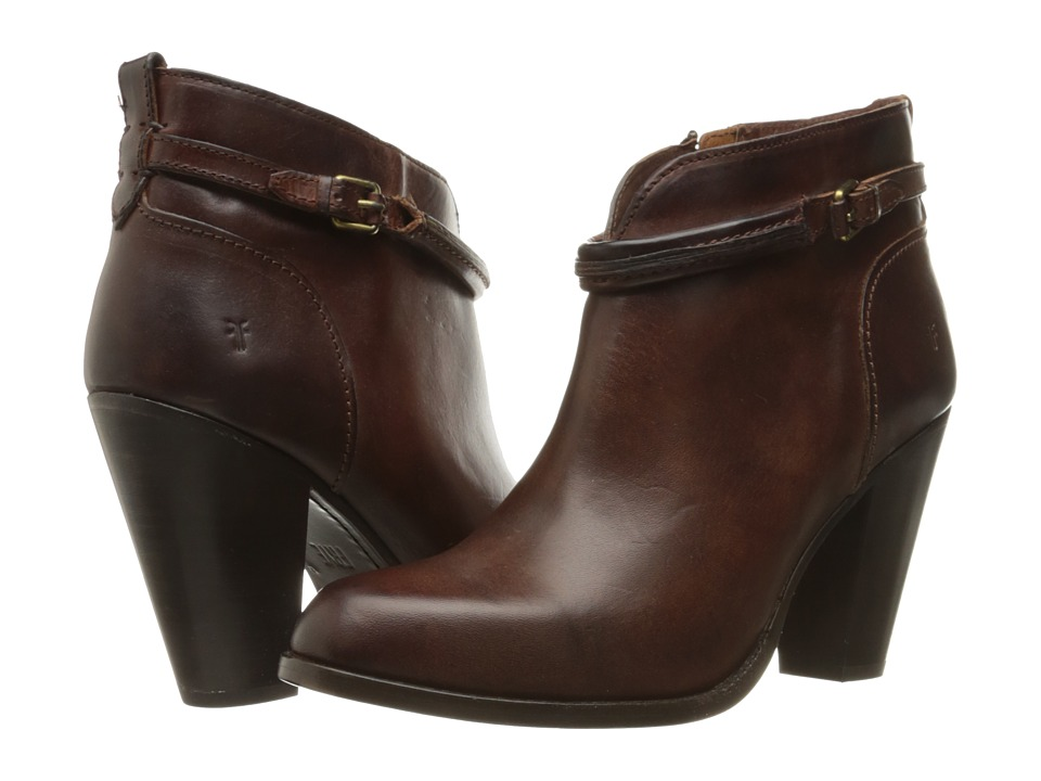 Frye - Jenny Seam Short (Brown Vintage Veg Tan) High Heels