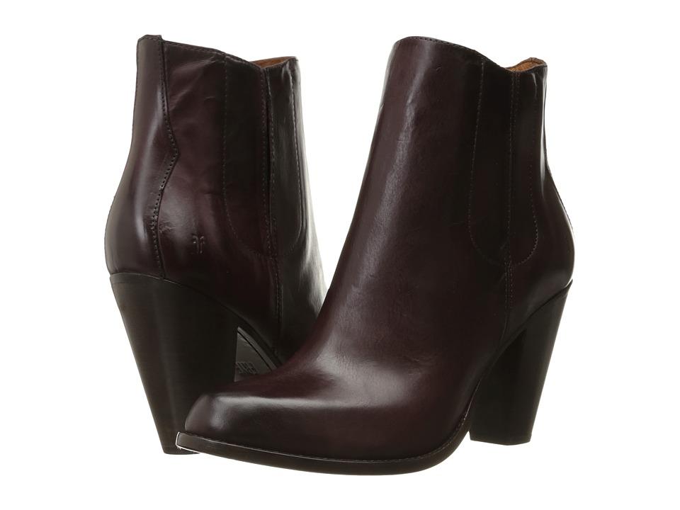 Frye - Jenny Jet Chelsea (Bordeaux Smooth Veg Calf) Women's Dress Zip Boots