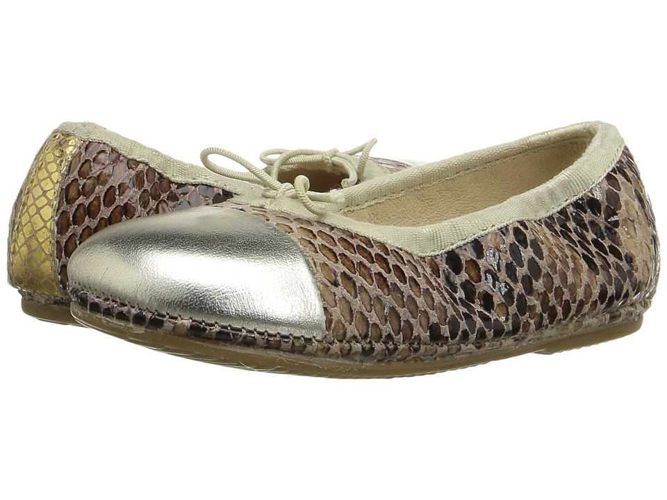 Old Soles Electric Flat (Toddler/Little Kid) (Python/Gold/Gold Snake) Girls Shoes