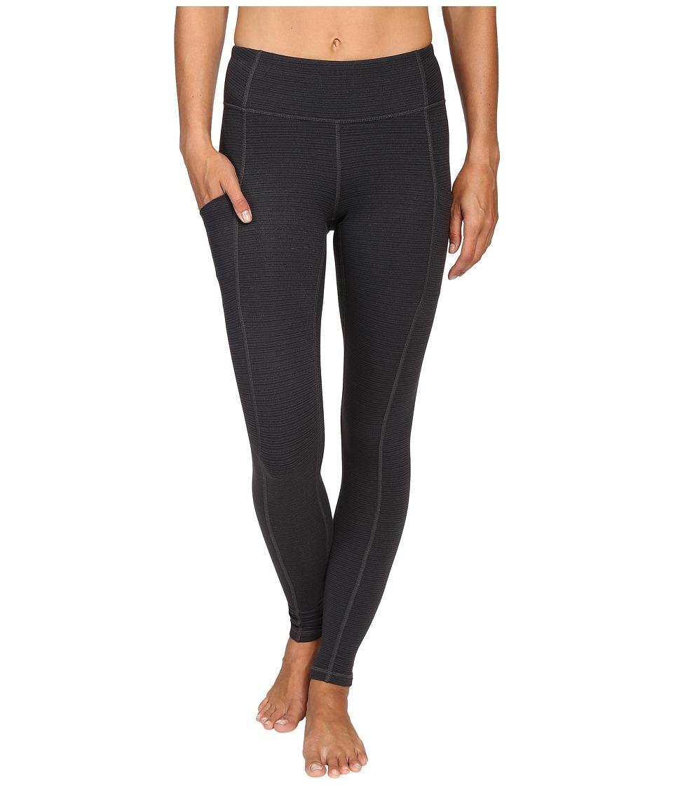 Lucy - Power Train Pocket Leggings (Lucy Black Tonal Stripe) Women's Workout