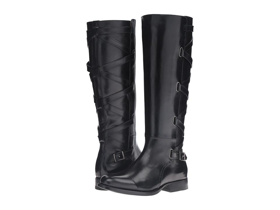 Frye - Jordan Strappy Tall (Black Smooth Veg Calf) Women's Boots