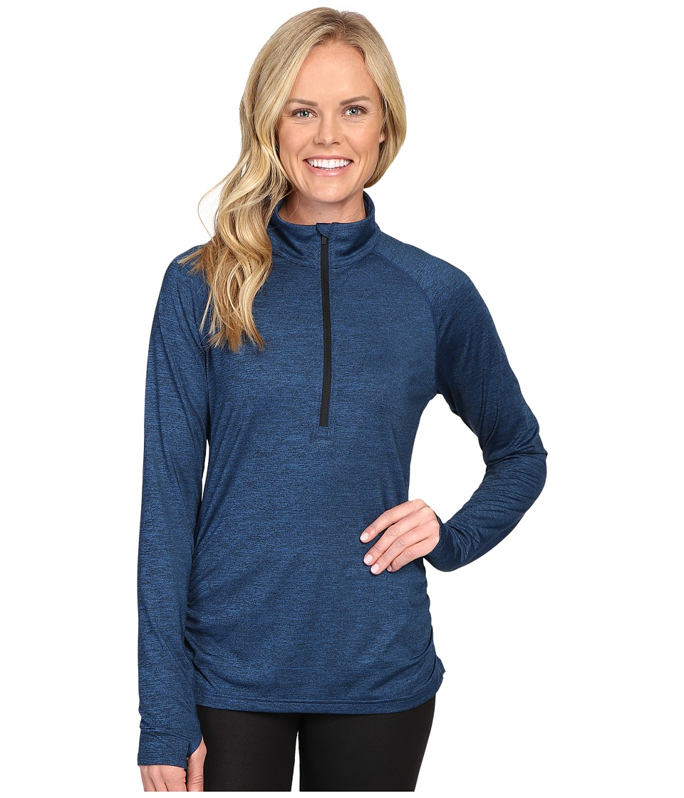 Lucy - Inner Spark 1/2 Zip (Poseidon/Lucy Black Heather) Women's Long Sleeve Pullover