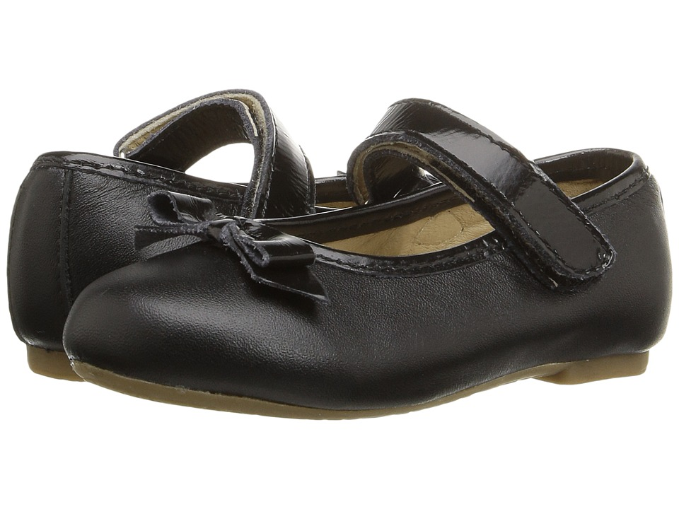 Old Soles - Praline Bow (Toddler/Little Kid) (Black/Black Patent) Girl's Shoes