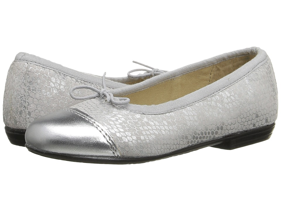 Image of Old Soles - Brule Toe Tip (Toddler/Little Kid) (Silver Python/Silver) Girl's Shoes