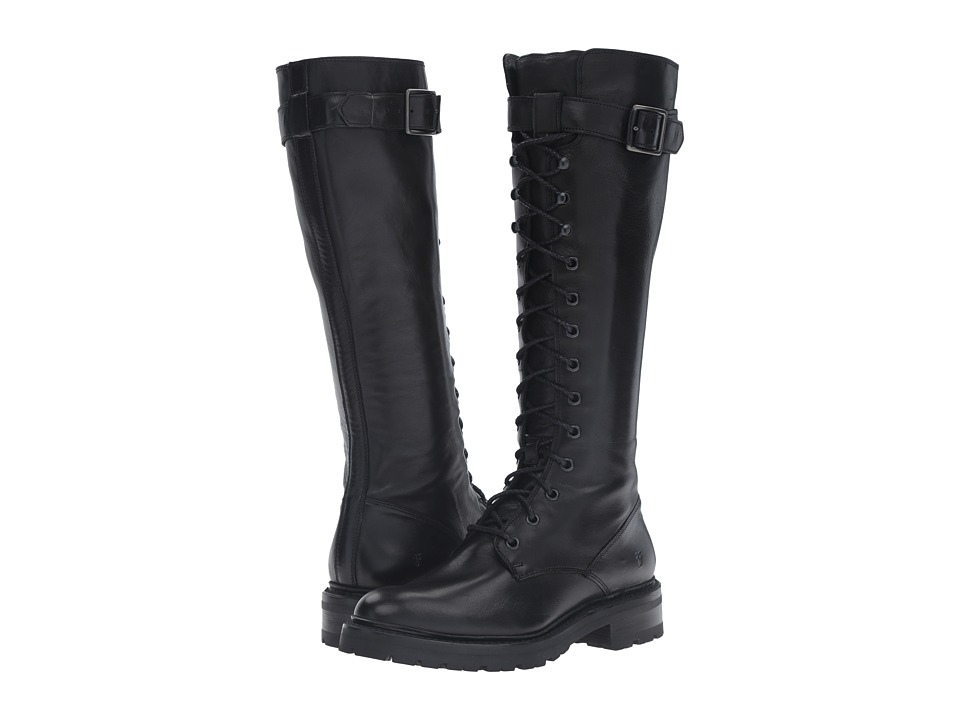 Frye - Julie Lace Tall (Black Soft Lamb) Women's Pull-on Boots