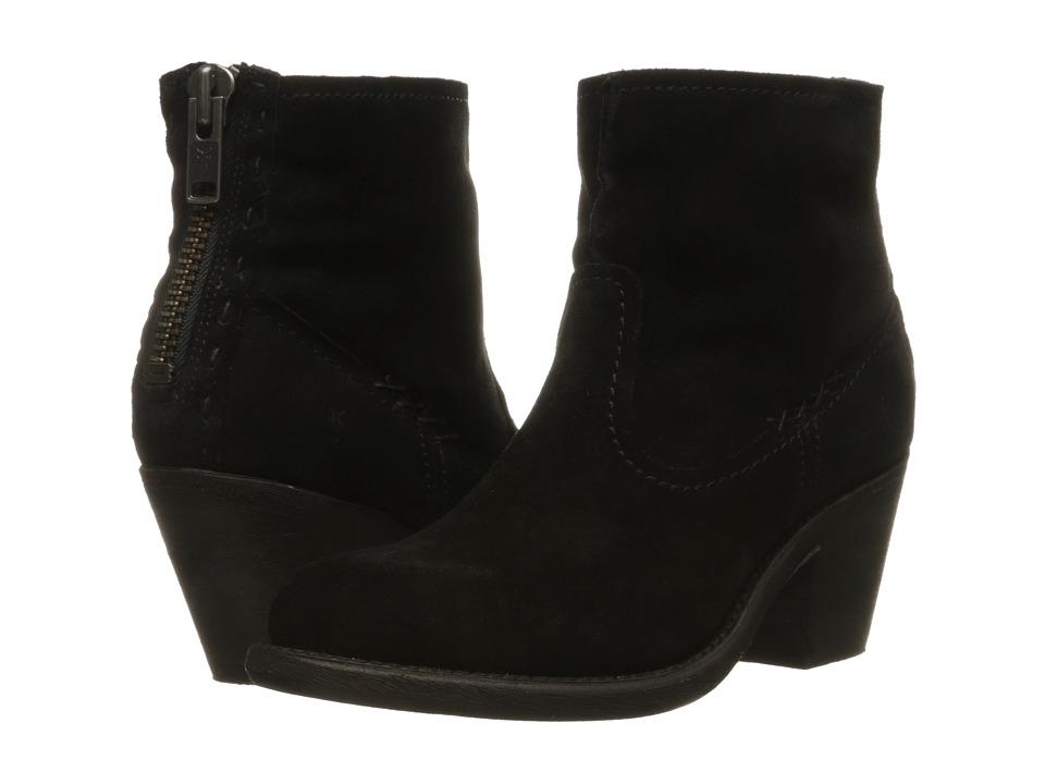 Frye - Leslie Artisan Short (Black Oiled Suede) Cowboy Boots