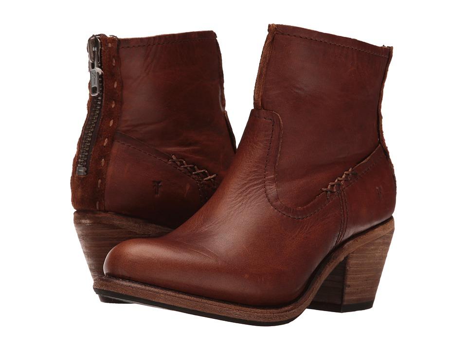 Frye Leslie Artisan Short (Cognac Washed Oiled Vintage) Cowboy Boots