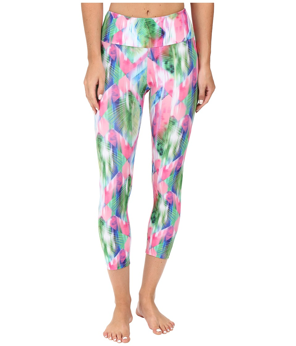 Onzie - Diamond Palm Capri Pants (Diamond Palm) Women's Capri