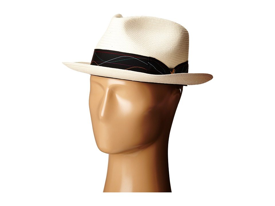 CARLOS by Carlos Santana - Shantung Teardrop Fedora (Ivory) Fedora Hats