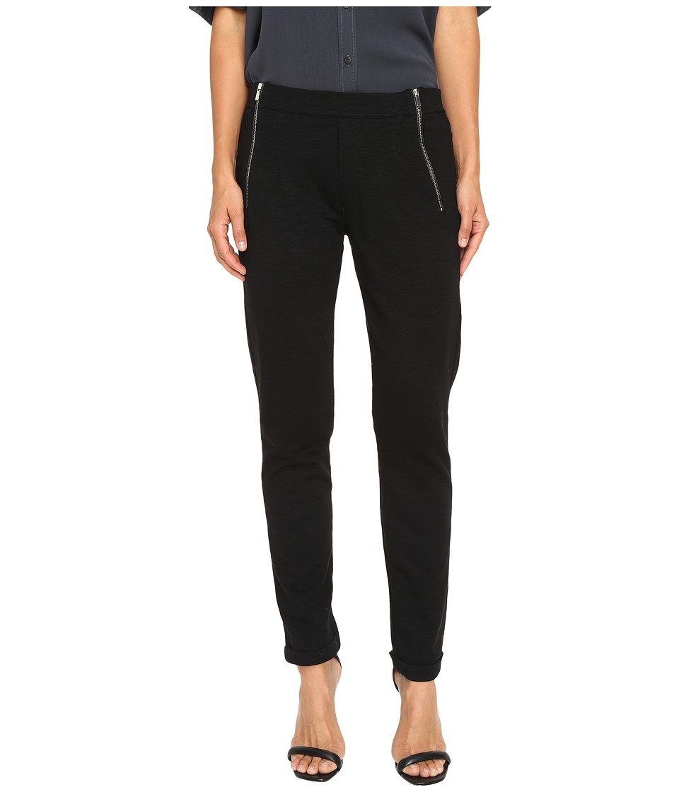 The Kooples - Yoga Jogging Trousers in Slub Fleece (Black) Women's Casual Pants