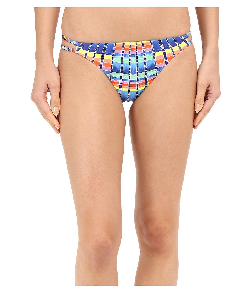 Mara Hoffman Side Strap Bottom Flight Azure Swimwear