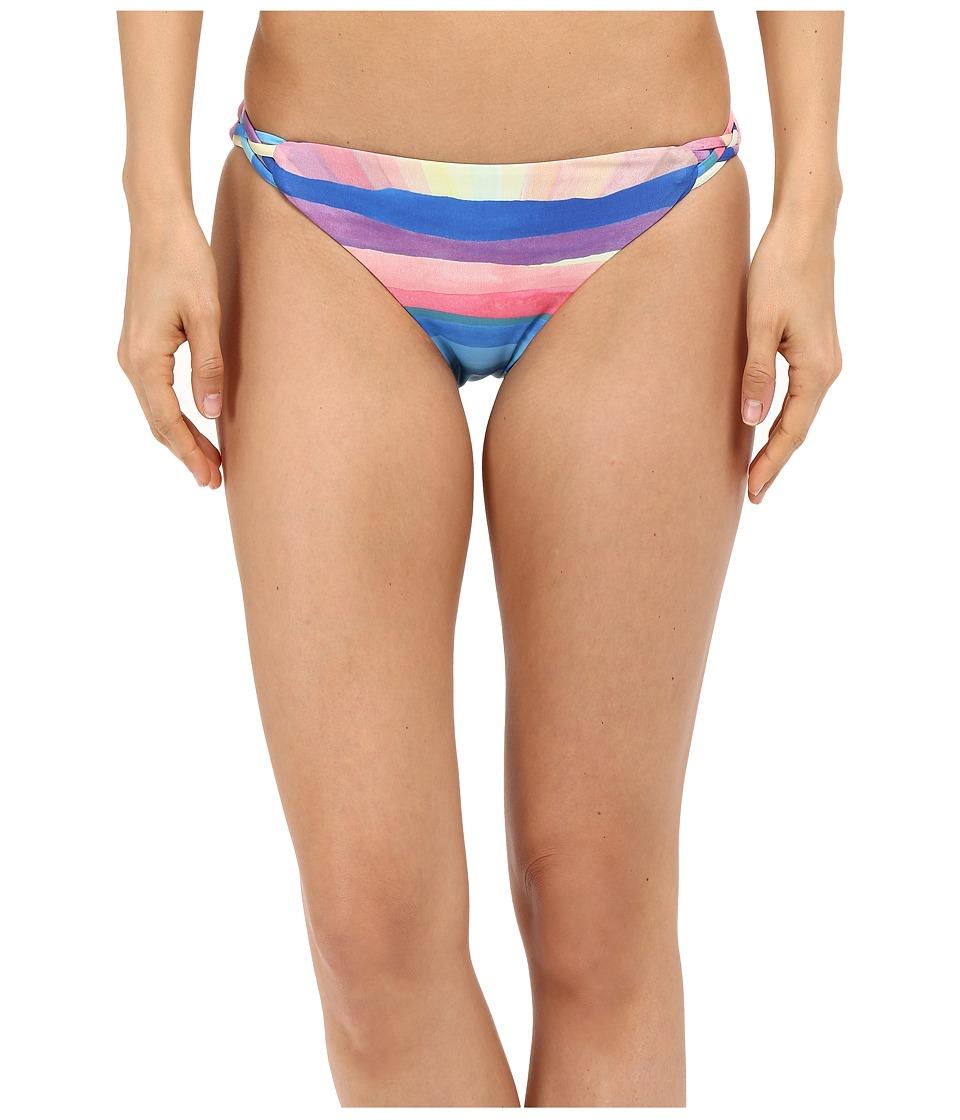 Mara Hoffman Landscape Basketweave Bottom Teal Multi Swimwear