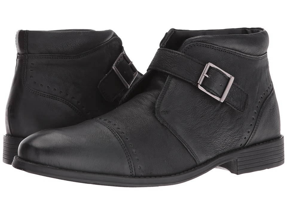 Stacy Adams Rawley Cap Toe Monk Strap Boot (Black) Men