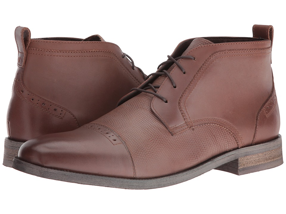 Stacy Adams Burgess Cap Toe Chukka Boot (Cognac) Men