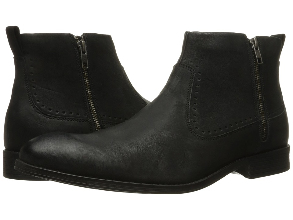 Stacy Adams Remington Plain Toe Zipper Boot (Black) Men