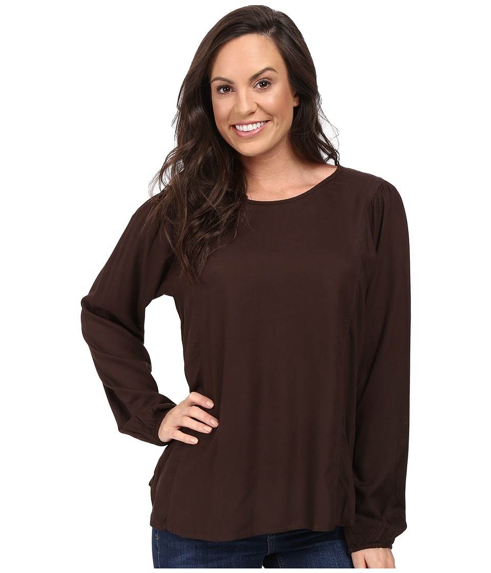 Ariat - Kori Top (Dark Chocolate) Women's Long Sleeve Pullover