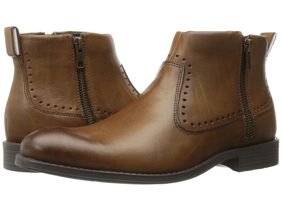 Stacy Adams - Remington Plain Toe Zipper Boot (Cognac) Men's Zip Boots