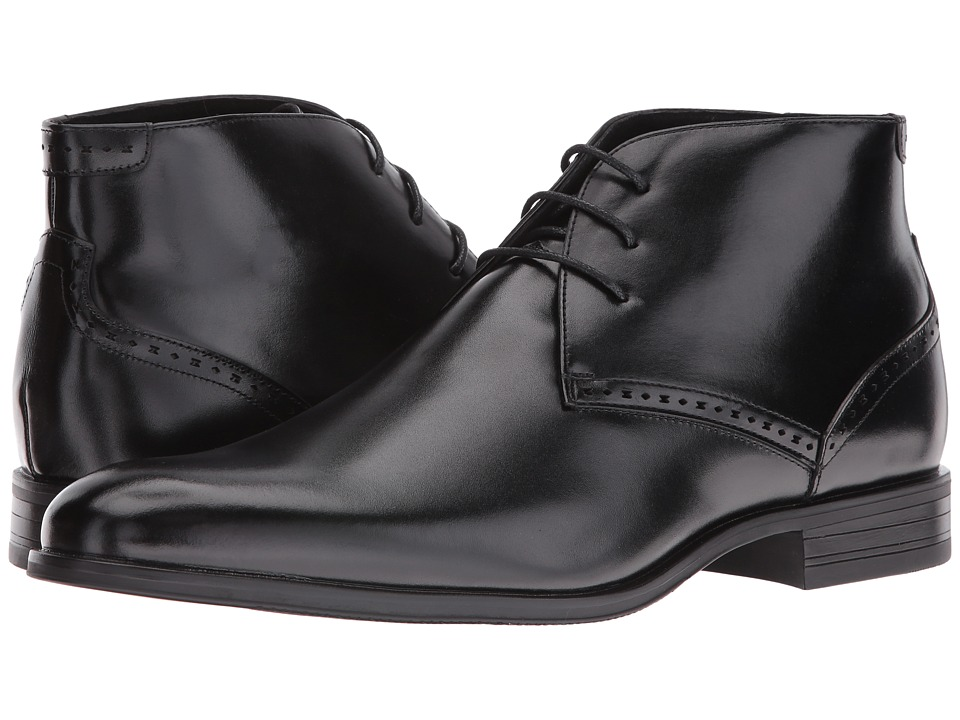 Stacy Adams Strickland Plain Toe Lace Chukka Boot (Black) Men