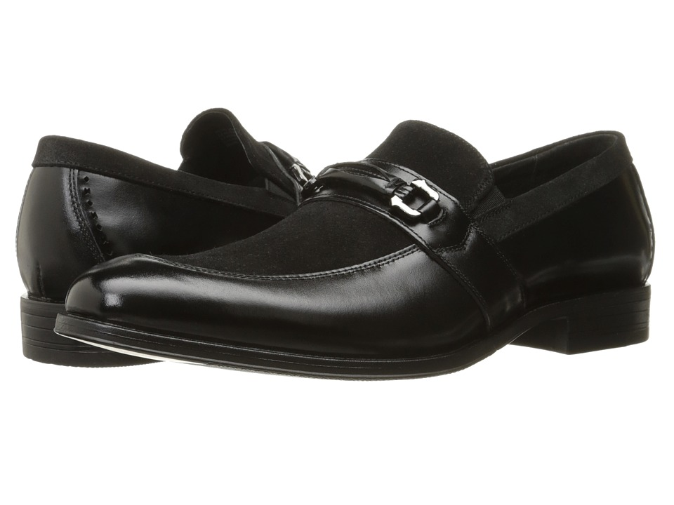 Stacy Adams - Selby Moc Toe Bit Slip-On (Black) Men's Slip on Shoes