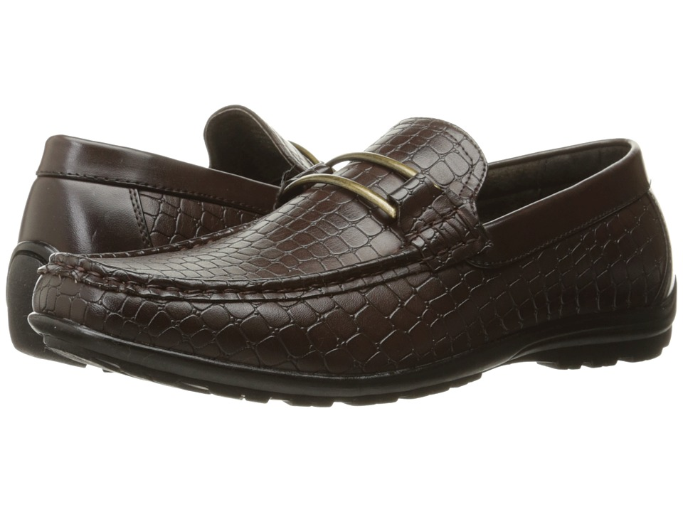 Stacy Adams - Lanzo Moc Toe Bit Slip-On (Brown) Men's Slip on Shoes