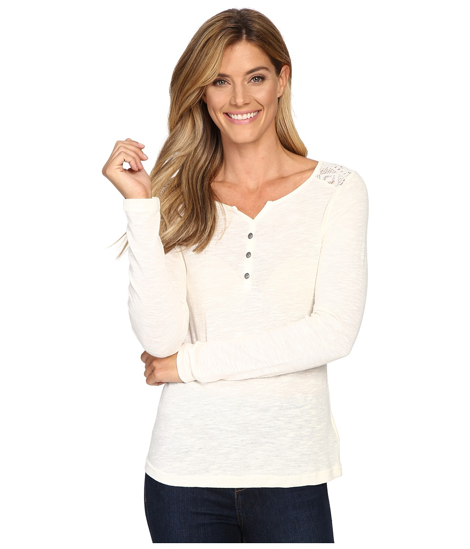 Ariat - Fate Henley Top (Papyrus) Women's Long Sleeve Pullover