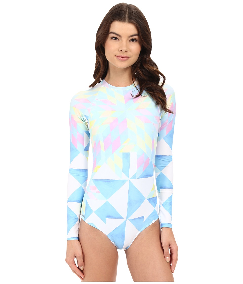 Mara Hoffman - Fractals Surf Suit (White Multi) Women's Swimsuits One Piece