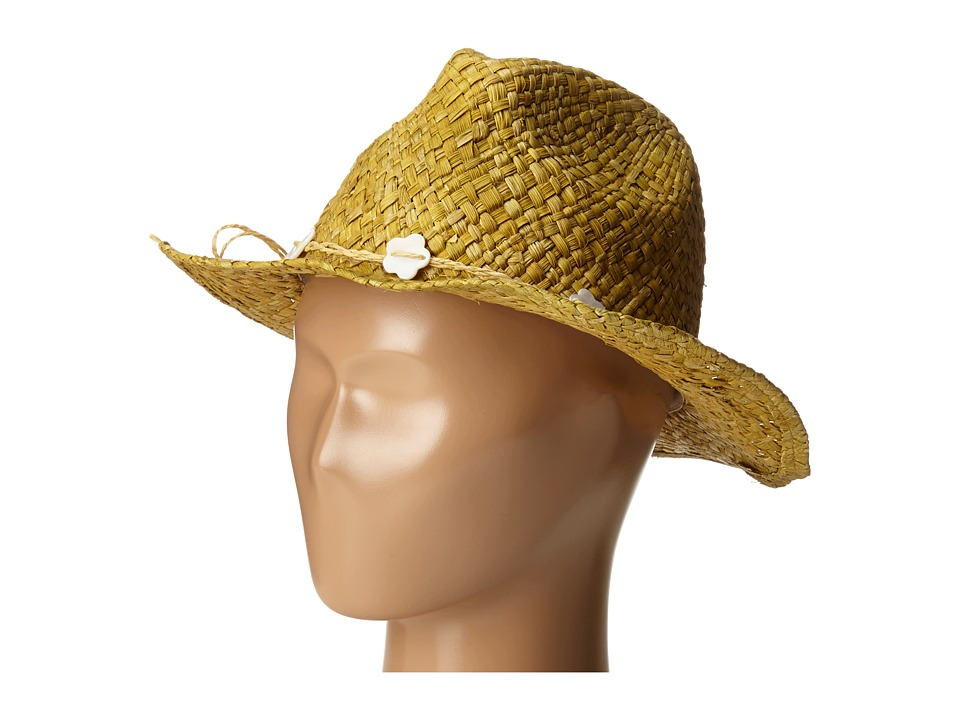 SCALA - Maize Outback with Flower Bead Trim (Toddler/Little Kid) (Natural) Caps